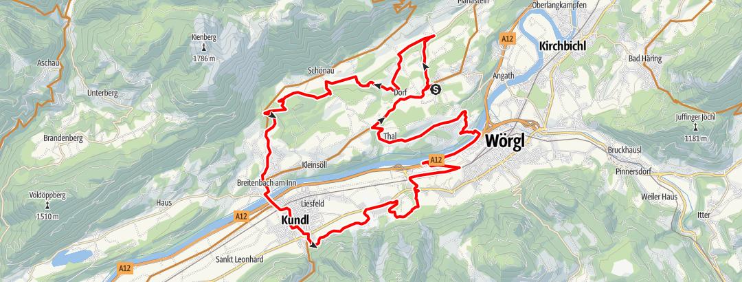 Karte / eldoRADo MTB Marathon 2021 Kurzstrecke OLD