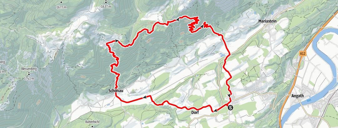 Karte / eldoRADo Trailrun 2021 Nachbergtrail/Kurz