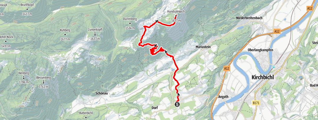 Karte / eldoRADo Trailrun 2021 Marsch