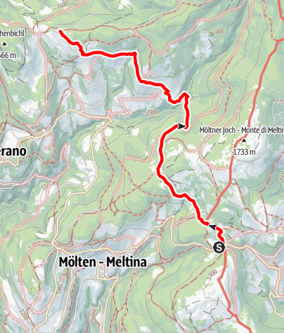 Karte / Langfenn - Leadner Alm