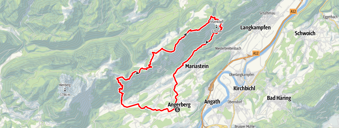 Karte / eldoRADo Trailrun 2021 Hundsalm-Trail Lange