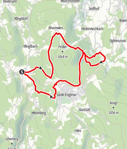 Karte / Riedbachtal über Hochpröller von Grün
