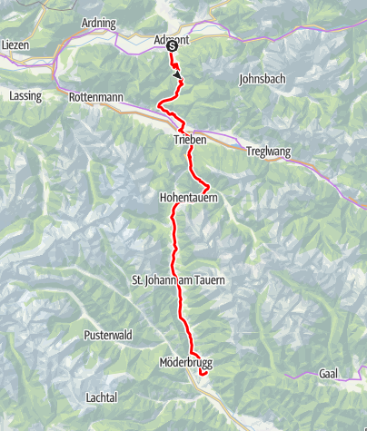 Karte / N04 BbW Radetappe Stift Admont - St. Oswald/Tauern