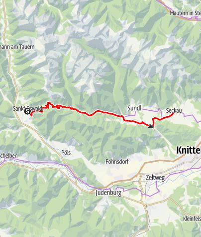 Karte / N03 BbW Radetappe St. Oswald/Tauern - Stift Seckau