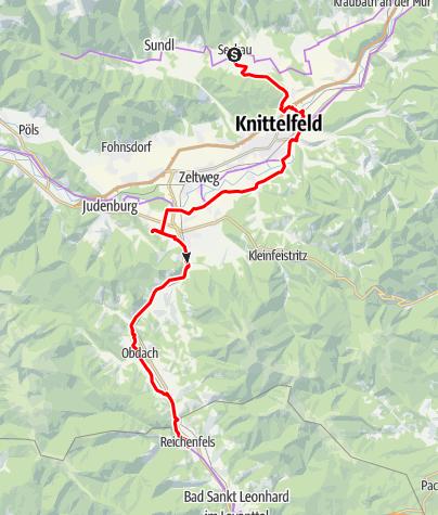 Karte / N02 BbW Radetappe Stift Seckau - Reichenfels