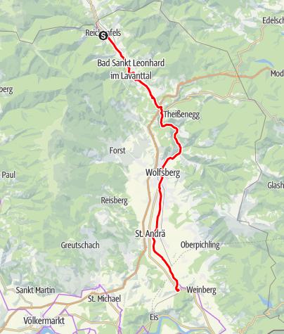 Karte / N01 BbW Radetappe Reichenfels - Stift St. Paul