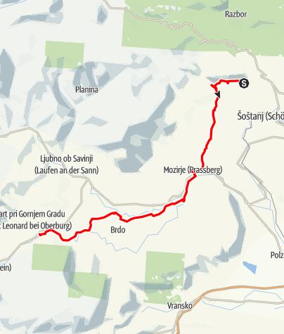 Karte / Topolšica-Gornigrad