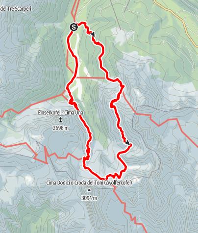 Map / Alpinisteig in Sexten