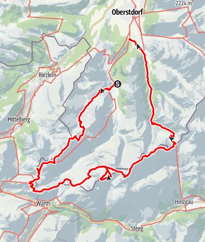 Karte / 3 Tages Wanderung Oberstdorf