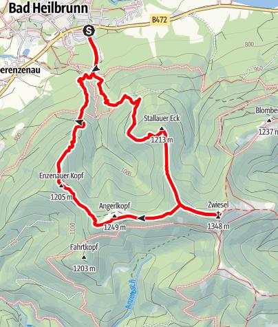 Map / Zwiesel 5 Gipfel Runde