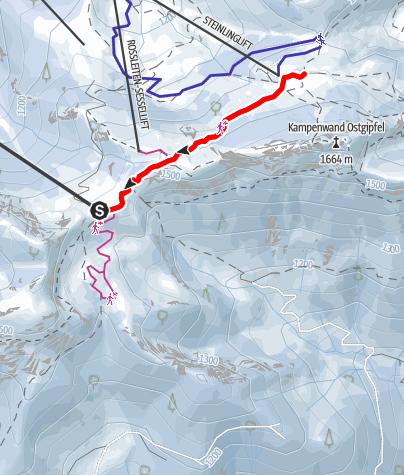 Map / Winterwanderung Kampenwand