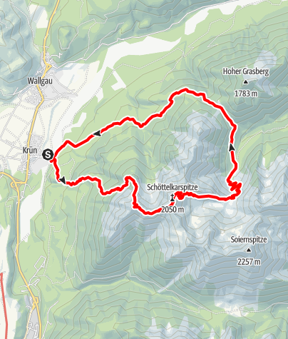 Karte / Schöttelkarspitze von Krün
