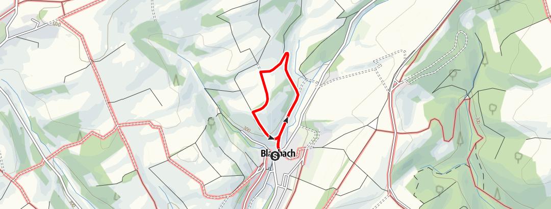 Karte / Blaubacher Glocken-Rundweg