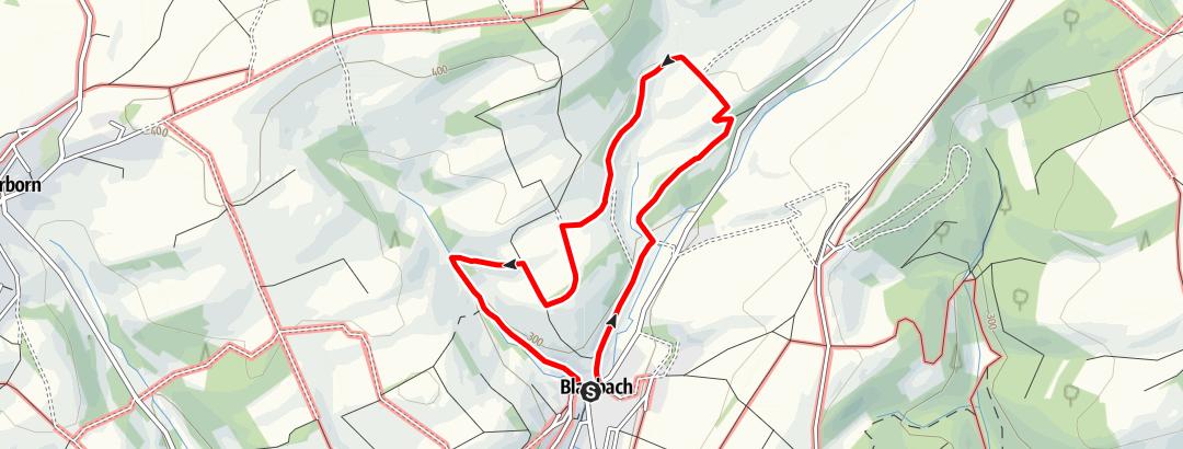 Karte / Blaubacher Geißbock-Rundweg