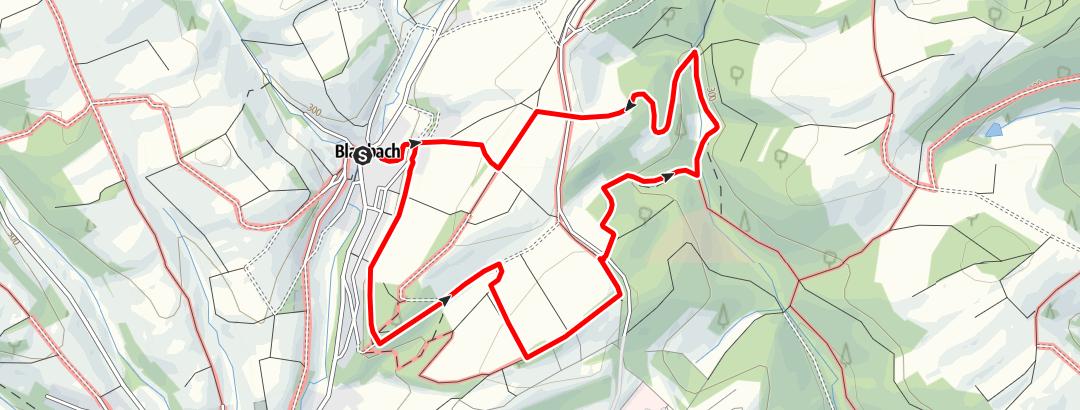 Karte / Blaubacher Reweschnier-Rundweg