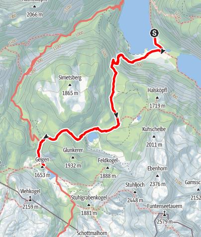 Karte / Kärlinger Haus über Sagerecksteig