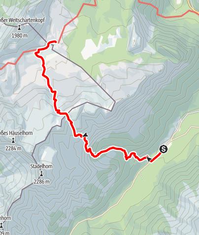 Karte / Zustieg von Hintersee über den Böslsteig auf die Neue Traunsteiner Hütte