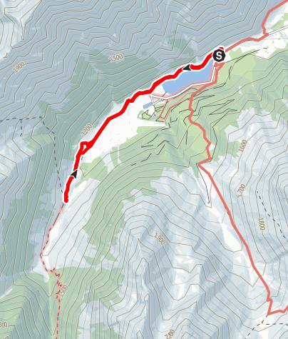 Karte / Balade au lac d'Estaing