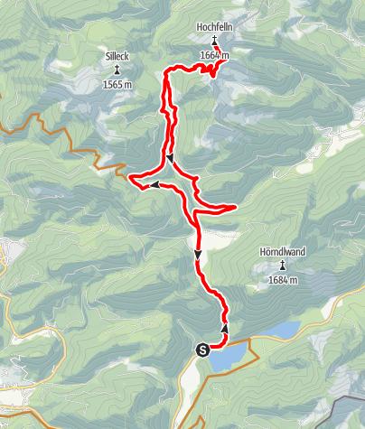 Karte / Hochfelln vom Weitsee (Bike & Hike)