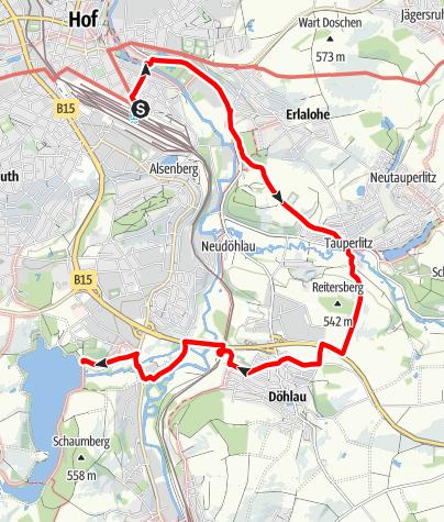 Karte / Seenweg Anschluss Hof