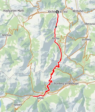 Karte / 01 - Kirchberg - Wildkogel - Krimml