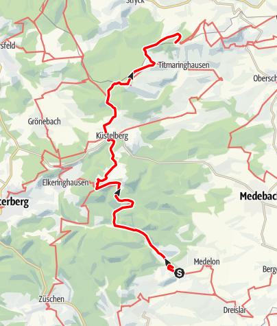 Karte / Sauerland Höhenflug Etappe 9