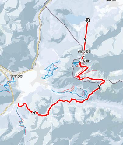 Map /  Transalp mit Ski - Etappe 1: Garmisch-Partenkirchen - Biberwier