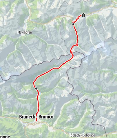 Karte / 02 - Krimml - Krimmler Tauern - Ahrntal - Bruneck