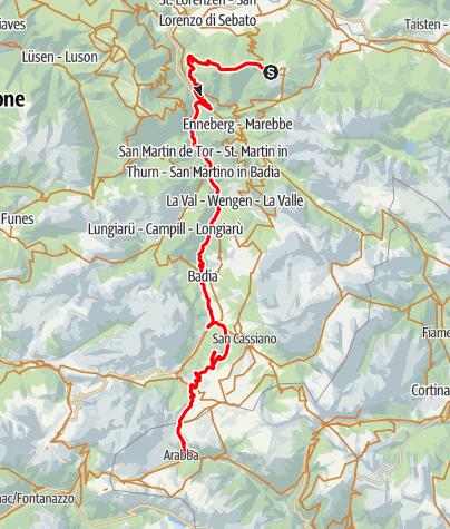 Karte / 03 - Bruneck - Kronplatz - Arabba