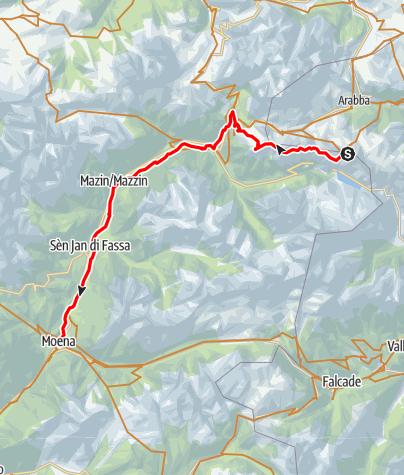 Karte / 04/05 - Arabba - Bindelweg - Moena