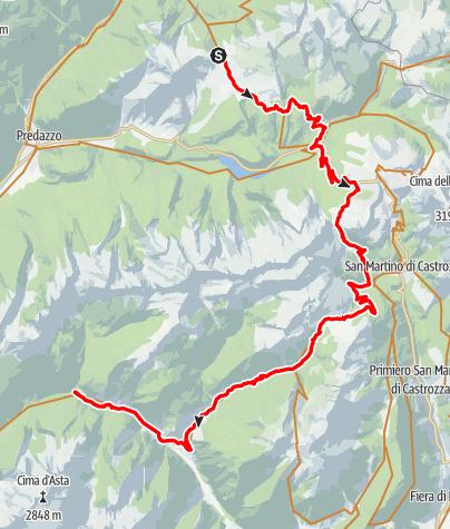 Karte / 06 - Moena - Passo Rolle - Caoria