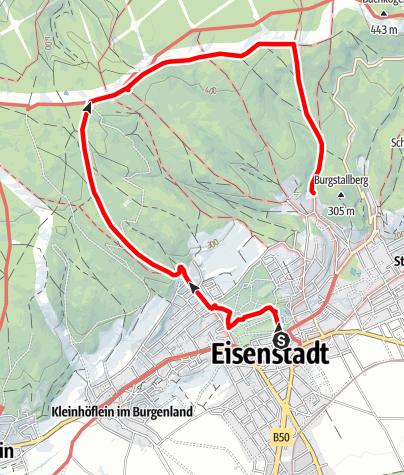 Karte / ORF - Die große Burgenland Tour - DGBT - 2014 - Eisenstadt