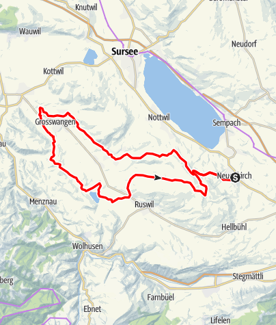 Karte / 🎬Neuenkirch - Grosswangen - Ruswil - Wyprächtigen (Rundtour)