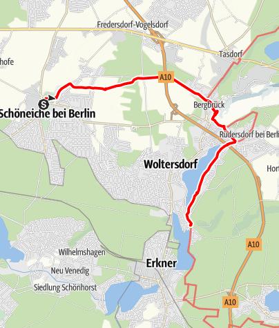 Karte / Von Schöneiche zur Woltersdorfer Schleuse mit Abstecher zum Rüdersdorfer Kalksteinbruch
