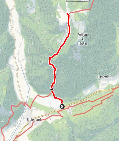 Karte / Straubinger Haus von Erpfendorf (Gernweg)