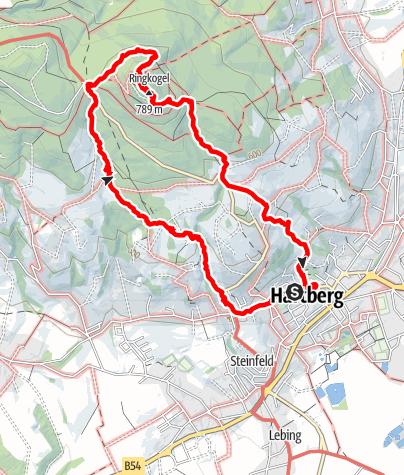 Karte / Ringkogel-Wanderung am 16. Mai 2021