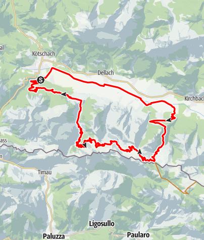 Karte / MTB Karnischer  Grenzmarathon