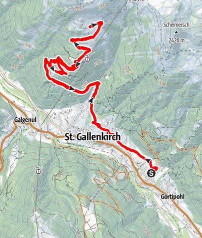Karte / E-MTB:Alpe Zamang