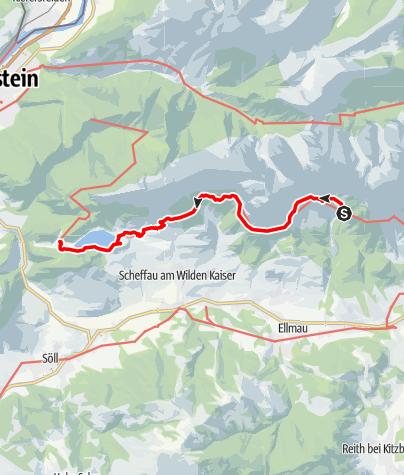 Map / Adlerweg - Etappe 2: Gaudeamushütte - Hintersteiner See