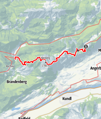 Map / Adlerweg - Etappe 5: Alpengasthof Buchacker - Kaiserhaus