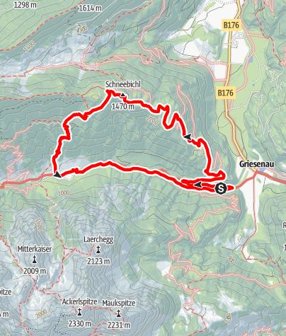 Karte / Schneebichl - Griesenau