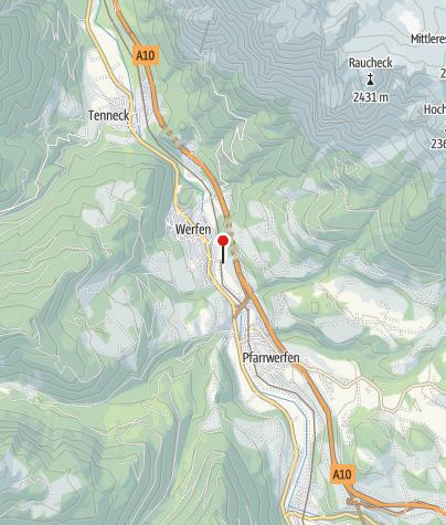 Karte / Bahnhof Werfen