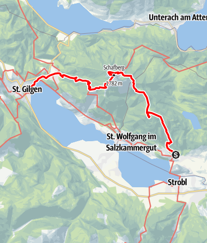 Karte / Schafberg am Wolfgangsee