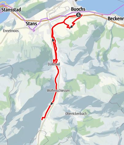 Karte / 🎬 Buochs und das Engelbergertal er-fahren