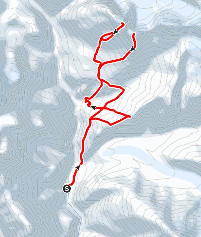 Karte / Nagoru Yak Kharka, Nagoru East (6116 m) und Nagoru Central (6165 m) - Campingtrekking ab/bis Phu (Phoo)
