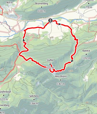 Map / Rundtour auf den Staffel