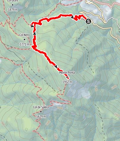 Karte / Monte Punta - Escursione il 5 giugno 2021