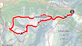 Karte / Höhenweg - Zwölferköpfl