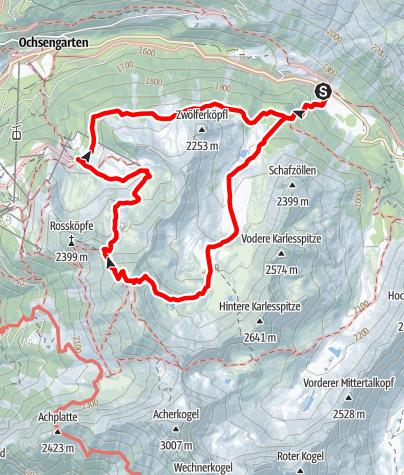 Karte / Tagestour - Wetterkreuz