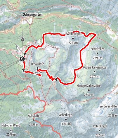 Karte / Gipfelerlebnis - Wetterkreuz